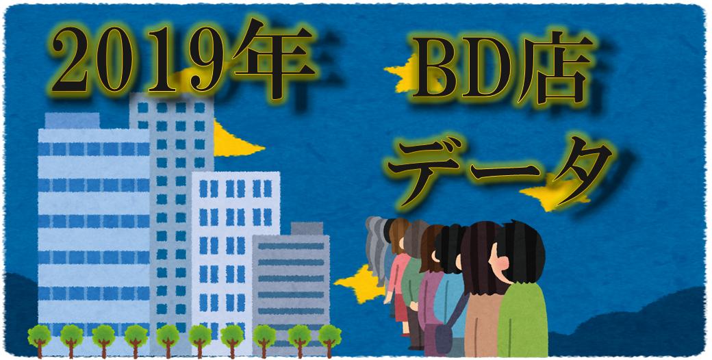 2019年BD店タイトル