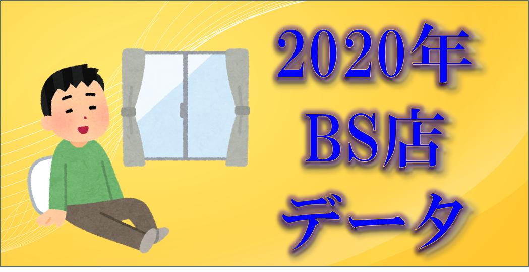 2020年BS店タイトル